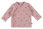 Babylook T-Shirt Overslag Flower Silver Pink