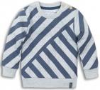 Dirkje Trui Stripes Grey Melee Mid Blue