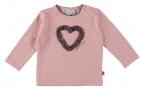 Babylook T-Shirt Heart Silver Pink