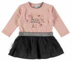 Babylook Jurk Hello Lovely Silver Pink