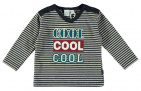 Babylook T-Shirt Cool Stripe Grey Melee /  Navy