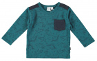 Babylook T-Shirt Dino Pocket Blue Coral