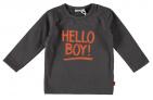 Babylook T-Shirt Hello Boy Asphalt