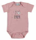 Babylook Romper I Love Papa Silver Pink