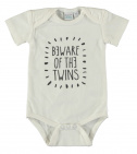Babylook Romper Beware Of The Twins White