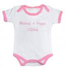 La Petite Couronne Romper Mama + Papa White Pink