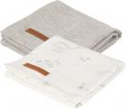 Little Dutch Multidoek 2 Stuks Ocean White / Pure Grey 70 x 70 cm