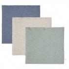 Little Dutch Monddoek Pure Blue/Grey/Mint  3-Pack