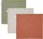 Little Dutch Monddoek Pure Olive/Grey/Rust 3-Pack