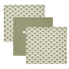 Little Dutch Monddoek Sunrise Olive/Pure Olive/Sunrise Olive 3-Pack