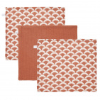 Little Dutch Monddoek Sunrise Rust/Pure Rust/Sunrise Rust 3-Pack