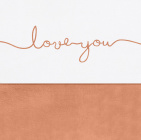 Jollein Laken Love You Caramel 75 x 100 cm