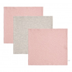 Little Dutch Monddoek Pure Pink/Grey/Pink 3-Pack