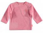 BESS T-Shirt Velvet Striped Pink