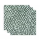 Jollein Hydrofiele Multidoek Small 70x70 Snake Ash Green 3pck