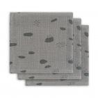 Jollein Monddoek Spot Storm Grey 3-Pack