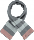 Sarlini Sjaal Knit Stripe Light Grey Melange