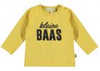 Babylook T-Shirt Kleine Baas Misted Yellow