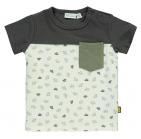Babylook T-Shirt Korte Mouw Paper Boats Snow White