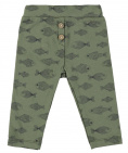 Babylook Broek Fishes Deep Lichen Green