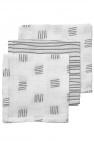 Meyco Monddoek Block Stripe Grijs 3-Pack