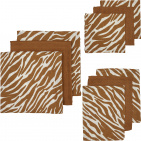 Meyco Starterset Luier - Monddoek - Washand Zebra Camel 9-Pack