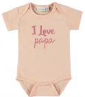 Babylook Romper Korte Mouw I Love Papa Evening Sand