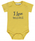 Babylook Romper Korte Mouw I Love Mama Misted Yellow