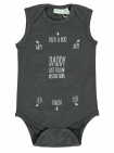 Babylook Romper Zonder Mouw Instructions Asphalt / White