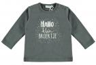 Babylook T-Shirt Hallo Broertje Asphalt