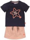 Dirkje 2-Delige Set Rok Shirt Star Navy