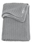 Meyco Wiegdeken Velvet Herringbone Grey 75 x 100 cm