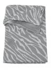 Meyco Wiegdeken Velvet Zebra Grijs 75 x 100 cm