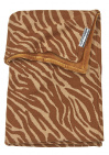Meyco Wiegdeken Velvet Zebra Camel 75 x 100 cm