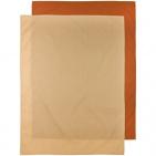 Meyco Ledikantlaken 2-Pack Uni Camel/Warm Sand 100 x 150 cm