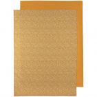 Meyco Ledikantlaken 2-Pack Cheetah/Uni Honey Gold 100 x 150 cm