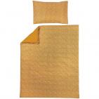 Meyco Ledikantovertrek Cheetah/Uni Honey Gold 100 x 135 cm