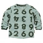 Quapi T-Shirt Zaki Dusty Green Melee Letter