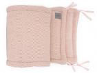 Jollein Box/Bedbumper River knit Pale Pink