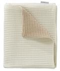 Cottonbaby Wiegdeken Wafel 2-zijdig Zand/Room  75 x 90 cm