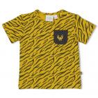 Feetje T-Shirt Korte Mouw Go Wild Okergeel