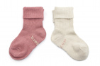 KipKep Blijf-Sokjes Dusty Clay  12-18mnd 2-Pack