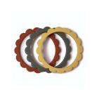 Mushie Bijt Armbanden Flower Clay/Dried Thyme/Sunshine (3 stuks)