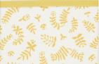 Briljant Ledikantlaken Botanical Organic Geel  100 x 150 cm