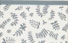 Briljant Ledikantlaken Botanical Organic Blauw Grijs  100 x 150 cm