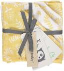 Briljant Monddoek Botanic Organic Geel 4-Pack