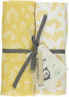 Briljant Swaddle Botanic Organic Geel  120 x 120 cm 2-Pack