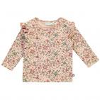 T-Shirt Tiny Flower Coral Cloud