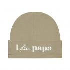 Babylook Muts I Love Papa Silver Mink