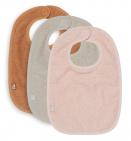 Jollein Slab Badstof Pale Pink / Nougat / Caramel 3-Pack